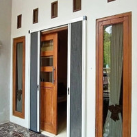 Lipat door 2 Panel Buka tengah Onna Blue Pintu kassa nyamuk minimalis