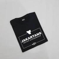 Kaos Baju Distro JAKARTANS NEVER SURENDER polos custom persija jakarta