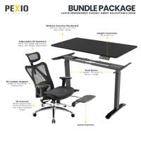 Bundle Package Ergonomic desk | Adjustable desk Amby + Luxio| PEXIO