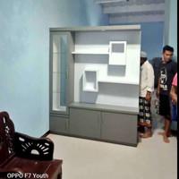 lemari pembatas ruangan/ partisi minimalis / penyekat ruangan / lemari