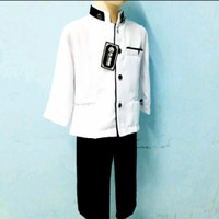 jasko anak atasan putih celana hitam/koko sekolah
