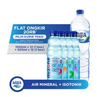 AQUA Air Mineral 1500ml x 12 + Mizone Mix Variants 500ml x 12