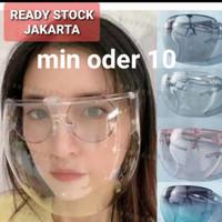 Face shield kacamata clear glass full face/ANTI FOG/ANTI SPLASH