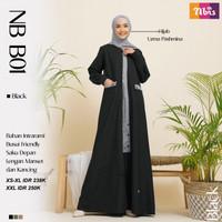Gamis Nibras Dress Baju Muslim Wanita Dewasa Fashion Syari NB B01