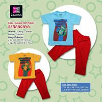 Setelan Kaos Celana Batitaboy SENANGNYA Anak Laki Usia 7 Bln-3 Thn