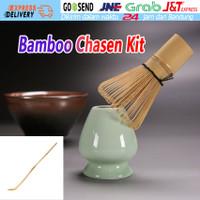 3Pcs/Set Chasen Bamboo Whisk Pengaduk Matcha Green Tea Dari Bambu