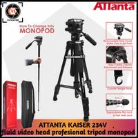 Tripod Attanta kaiser 234v fluid video head profesional tripod monopod