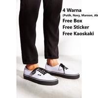 Sepatu Vans Authentic Putih sol Hitam Premium Quality
