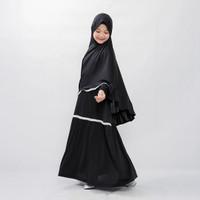 Bajuyuli - Baju Muslim Anak Perempuan Syari Renda - Hitam - S