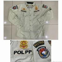 Baju PDH Crem POL PP + Bordiran Timbul ( Costum )