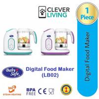 Baby safeLB02 Digital food Maker Blender Steamer Alat pemb makanan #03 - Biru