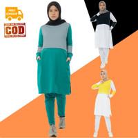 Setelan Baju Olahraga Senam Wanita Muslim Muslimah Dewasa AZUMI Aisye