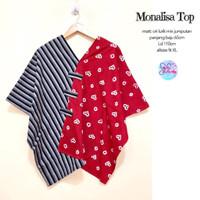 Blouse Batik Kombinasi bahan Lurik Mix Jumputan Kode MONALISA TOP