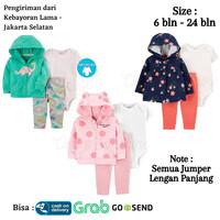 CARTERS Baju Set 3in1 Jaket Jumper Celana Anak Bayi Perempuan Laki 1