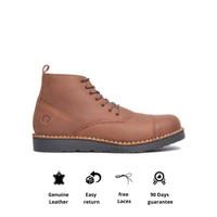 Sepatu Boots Kulit Otiv Gama Brown