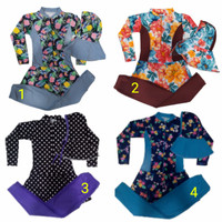 Baju Renang Muslimah anak SD Motif Cantik