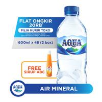 AQUA AIR Mineral 600ml x 48 FREE Sirup