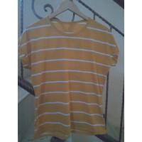273. Atasan stripe kuning tosca abu - Kuning