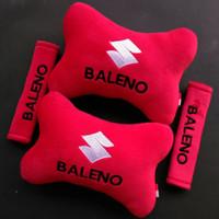 Bantal Kepala Mobil Suzuki Baleno/Bantal Jok Mobil /merah