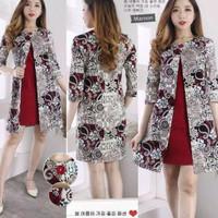 Dress Vintage Cheongsam Congsam CNY Slit Red Elegant MVH