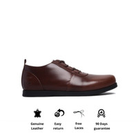 Sepatu Kerja Kulit Otiv Osaka Havana Brown