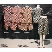Setelan Kulot Baby Doll Daster Baju Pakaian Tidur Batik Pekalongan 22