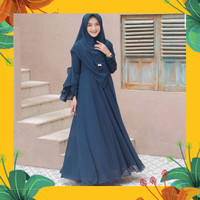 Baju gamis Syari+Khimar Jumbo RPMAYRA Busana Fashion Muslimah terbaru