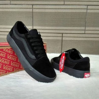 Sepatu sneakers pria vans old school full hitam