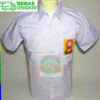 Kemeja SMP/Baju seragam sekolah SMP logo OSIS Size :M L XL s/d L8