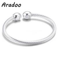 ARADOO Perhiasan Kesehatan Pendant Kalung Batu Vulkanik Ion Negatif F4 - Gelang Perak
