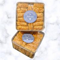 Kue KEJU/KASTENGEL Premium Toples Kotak - Kue Kering