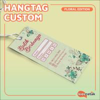 Hang Tag Custom / Label Baju / Price Tag Seri Bunga