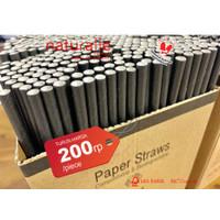 SEDOTAN KERTAS *PAPER STRAW* 6MM X 200MM- ISI 500 PER PACK