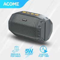 ACOME Speaker Bluetooth 5.0 Hi-Fi Sound TWS 5W Portable A2 - Grey