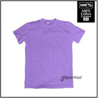 Kaos Polos lengan Pendek Kualitas Distro Cotton Combed 30s warna ungu