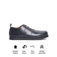 Sepatu Kerja Kulit Otiv Otsu Black