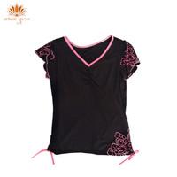 Baju Yoga / Baju Senam Lengan Pendek Hitam DL 97010 - M