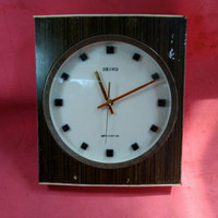 jam dinding seiko transistor berat tahun 1973 jadul vintage antik