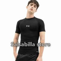 Kaos baselayer baju manset pria lengan pendek uaa