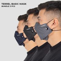 Masker kain non medis 3 pcs Rp 100,000 #techseries terrel sportswear