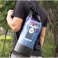 Tas Drybag Ransel / Jinjing Waterproof 10L / 20L - Biru, 10L