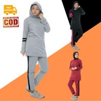 Setelan Baju Olahraga Senam Wanita Muslim Muslimah Dewasa NAOMI Aisye