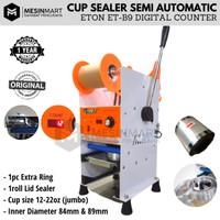 Cup Sealer Mesin Press Gelas Semi Auto ET-B9 Digital Counter + Roll