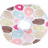 Pet Dog Cat Donut Pillow Recovery Elizabeth Cone Collar Corong Hewan
