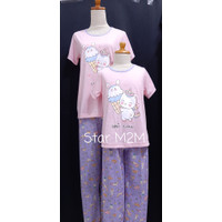 Baju Tidur Anak Cewek Anne Claire ( UNICONE ) st.lengan pdk celana pjg - 8, Merah Muda