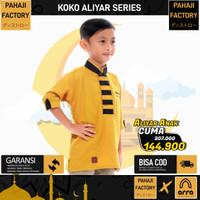 Baju Koko Anak Cowo Slimfit Kuning Mustard Aliyar PahajiFactory 3-12th