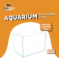 Aquarium Ultra Clear / Optic Clear Glass 60cm / Instant Courier Only