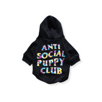 ASPC Anti Social Puppy Club Camo Hoodie - GIPAWNCHY PETS