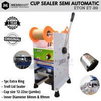 Cup Sealer Mesin Press Gelas Semi Auto ET-B9 + Gratis Roll Plastik