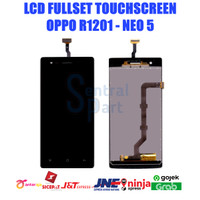 LCD OPPO R1201 NEO 5 FULLSET TOUCHSCREEN OEM CONTRAS MAIN GRADE AAA - Putih